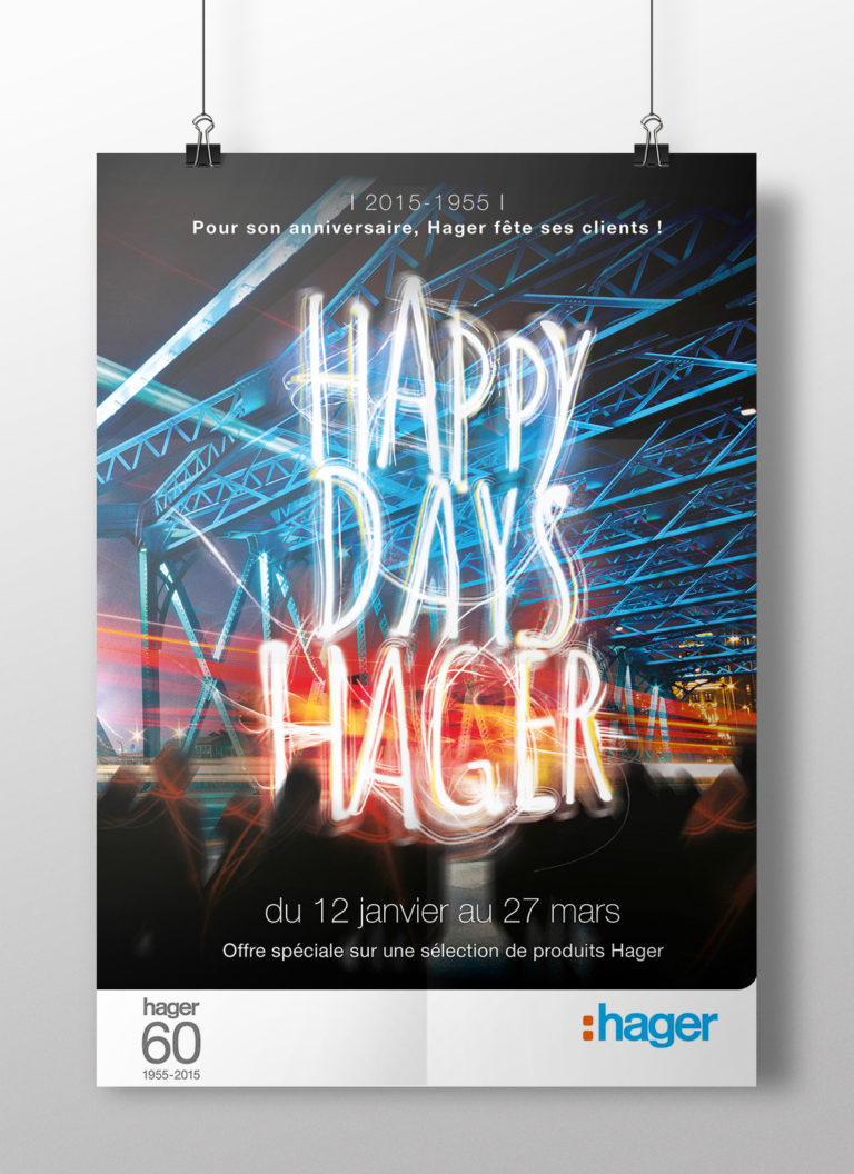 HAGER - Happy Days Hager 60 ans - Opération promotionnelle nationale