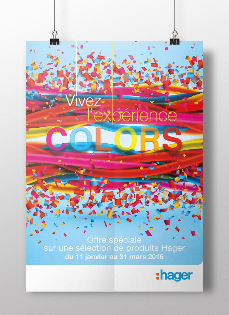 HAGER - COLORS - Opération promotionnelle nationale